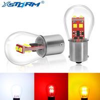 2Pcs 1157 BA15D BAY15D 1156 BA15S P21W P21/5W Led-lampe S35 800LM Auto Blinker Lampe umge Lichter Rot Weiß Gelb 12V