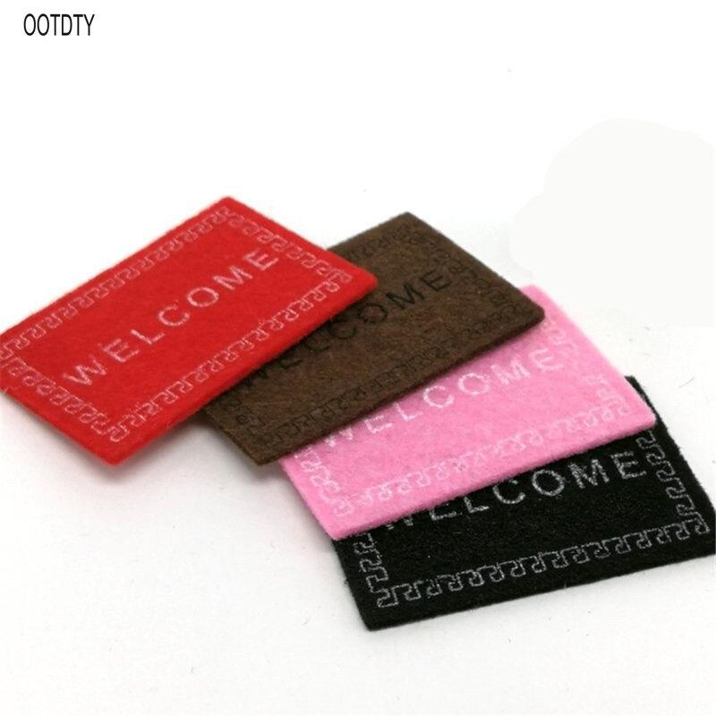 1:12 WELCOME Mat Doll House Miniature Carpet Accessories Ornament DIY Furniture