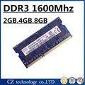 Venta 2 gb 4 gb 8 gb 16 gb pc3-12800 DDR3 1600 mhz so-dimm de memoria ram del ordenador portátil, 2g 4g 8g 1600 mhz DDR3L PC3L-12800 memoria notebook