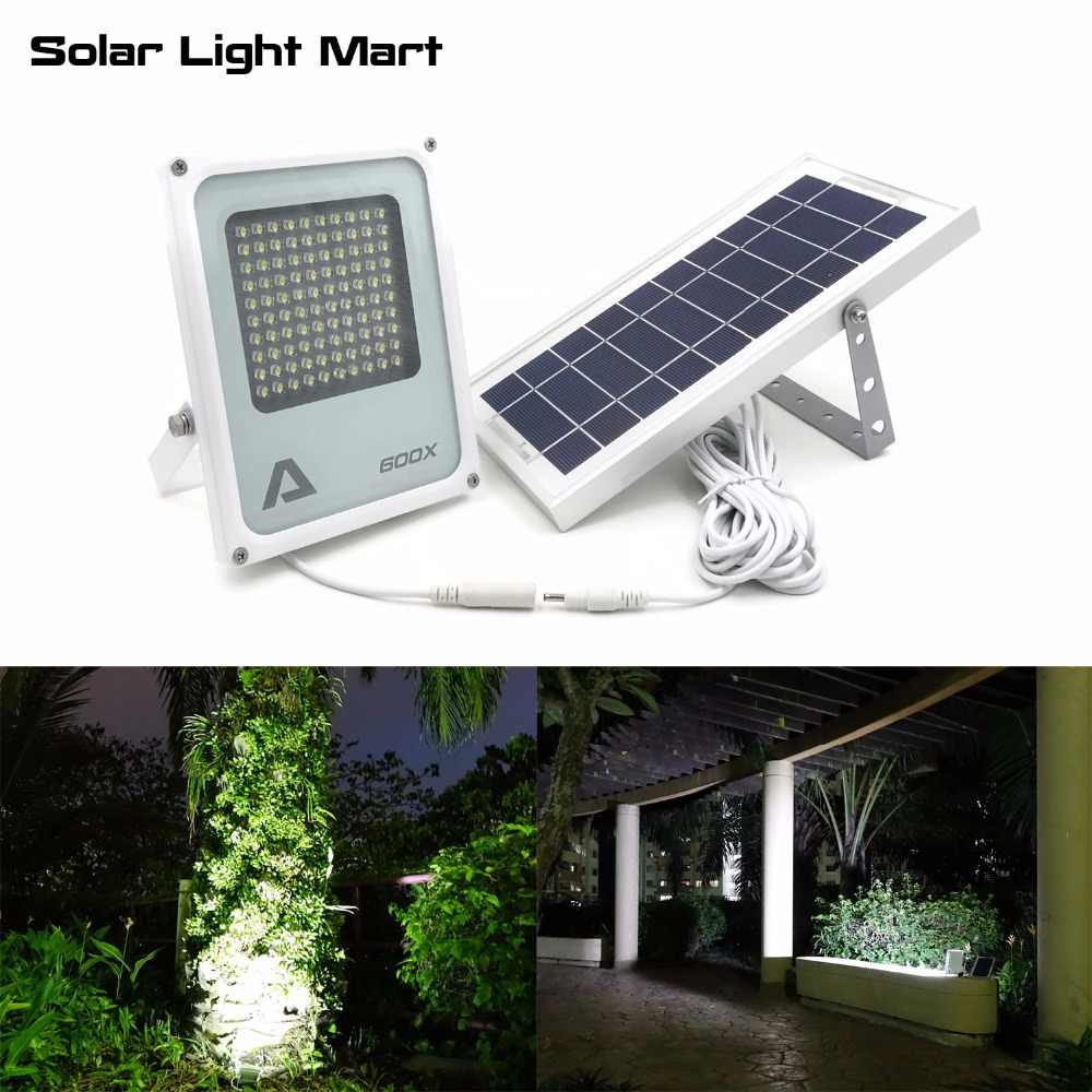 Alpha 600X100 LED 100-750lm 3 modos de energía Solar Powered Outdoor Flood luz Solar LED lámpara para jardín