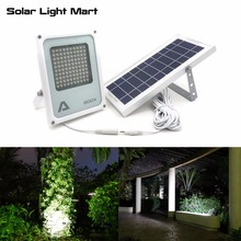 Alpha 600X 100 LED 100 750lm 3 Power Modi Solar Powered Freien Flutlicht Solar LED Lampe für Garten