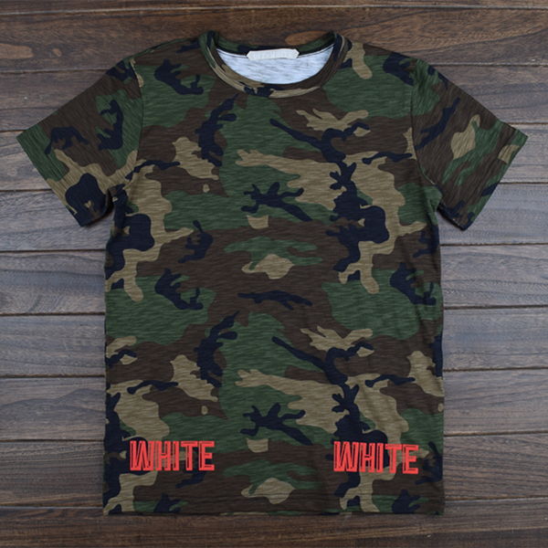 2016 New Camouflage Men T-shirt high quality OFF WHITE short sleeve Fashion Novelty Style Famous Brand Clothing Tees 13 PYREX