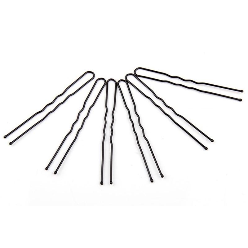 3d699f52 € 0.92 10% de DESCUENTO|20 piezas de Metal delgado en forma de U horquillas  para las señoras de las mujeres de pelo negro pelo Clip de atención de ...