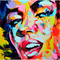 Francoise Nielly Hand painted Marilyn Monroe Oil painting Modern Abstract oil painting on canvas paintings for living room wall