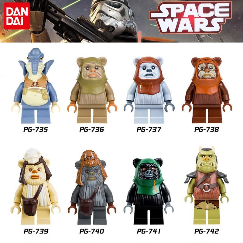 Star Wars MiNi legoINGly Building Blocks Figures Yoda Leia Boba gungan Fett Clone Trooper Darth Vader Kylo Model kids gifts Toys 2018 movie star wars clone trooper darth