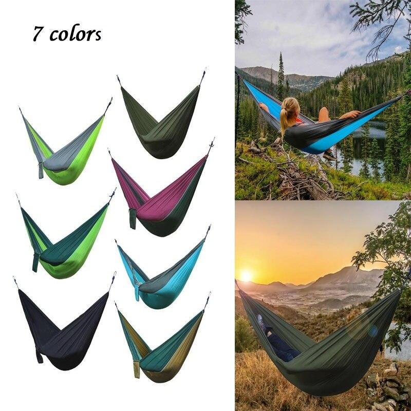 Portable Hammock Outdoor Camping Hangmat Swing Hunting Hanging Sleeping Kids Adult Hanging Parachute Hammocks Bed Swing Bed