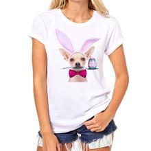2017 Fashion Kawaii Funny Cute Cat printed T Shirt Woman Summer DJ Disco Animal Unique Police Chihuahua Female Tees Bad Dog Tops