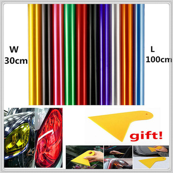 30x100cm Car HeadLight lamp Film Sticker Decal for Mercedes Benz E53 C63 C43 C-Class AMG GL550 F800 A200 ML500 ML350 GL450 image
