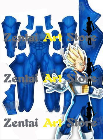 3D Print Dragonball Z Vegeta Super Saiyan Fighting Uniform Anime Cosplay Costume Blue SAIYAN Lycra Spandex