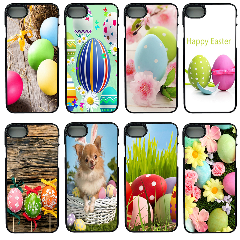 Hot Happy Easter Bunn Rabbit Mobile Phone Cases Hard PC Cover For iphone 8 7 6 6S Plus X 5S 5C 5 SE 4 4S iPod Touch 4 5 6 Shell