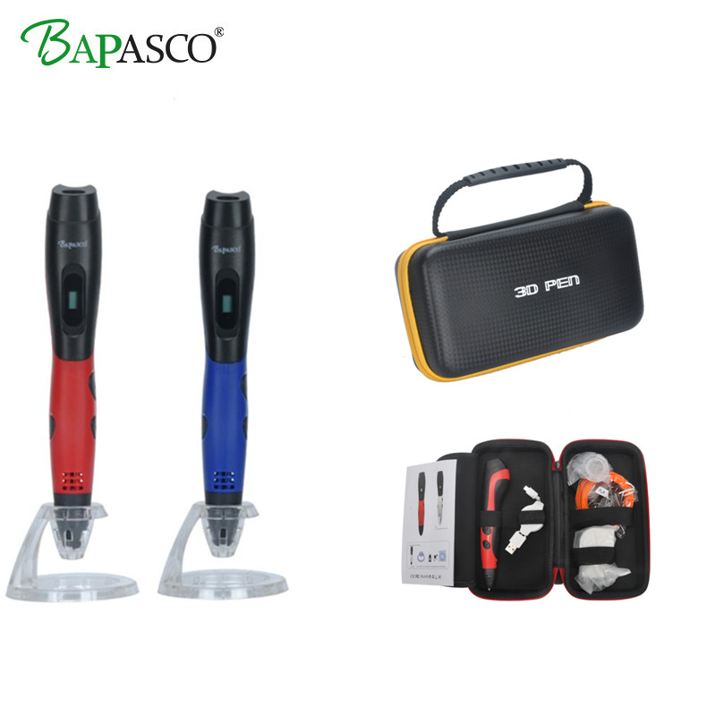 2018 Newest 3D Pen Add Free ABS/PLA Filament Original BAPASCO Hot Sale 3D Printing Pen USB Mobilephone Charge For Kids Best Gift christmas gifts fast epacket dewang newest 3d pen wiht usb cable low temperature free 9m abs pla child gift for imagination