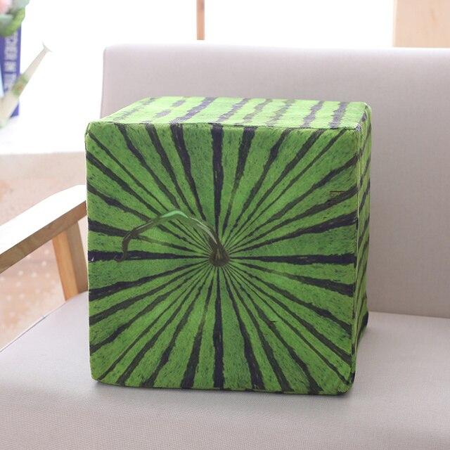 Square Watermelon Plush Pillow 1