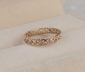 Женские кольца из нержавеющей стали, простой дизайн, розовое золото, размер 4-10, 3 мм