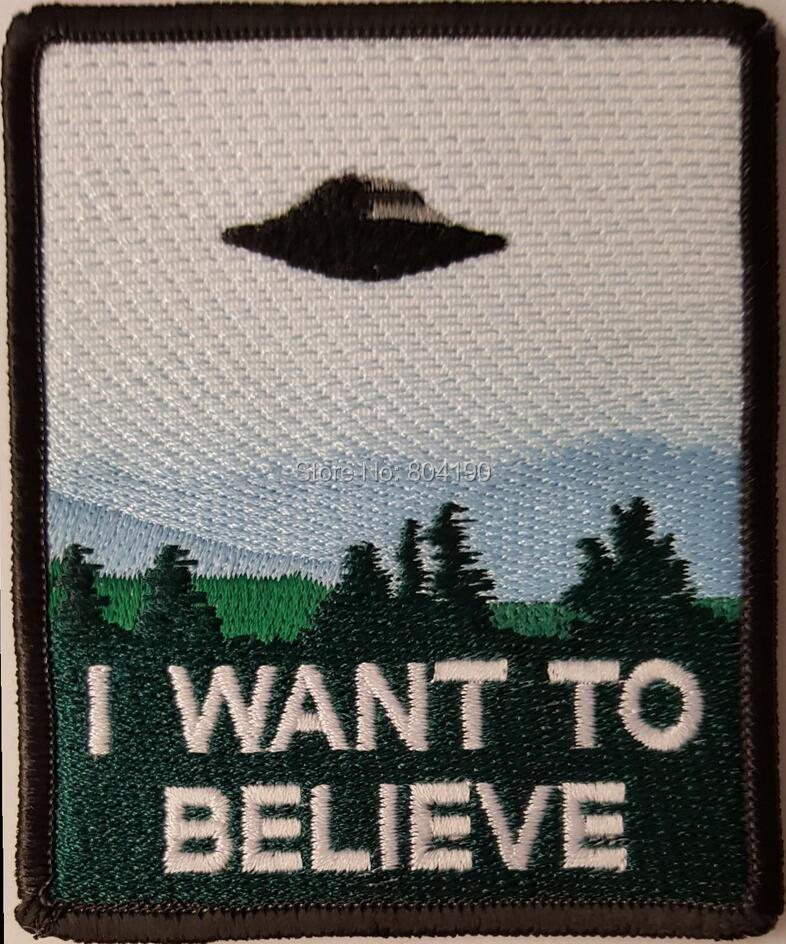 3 8 I Want to Believe X File Poster patch TV MOVIE Series Uniform rockabilly applique