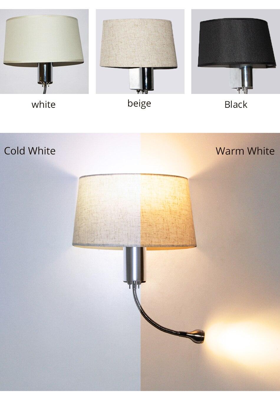 E27 Wall Lamp Modern Lighting Luminaires Bathroom Living Room Hotel Bedroom Loft Decorative Sconce Night Lighting LED Wall Light (7)