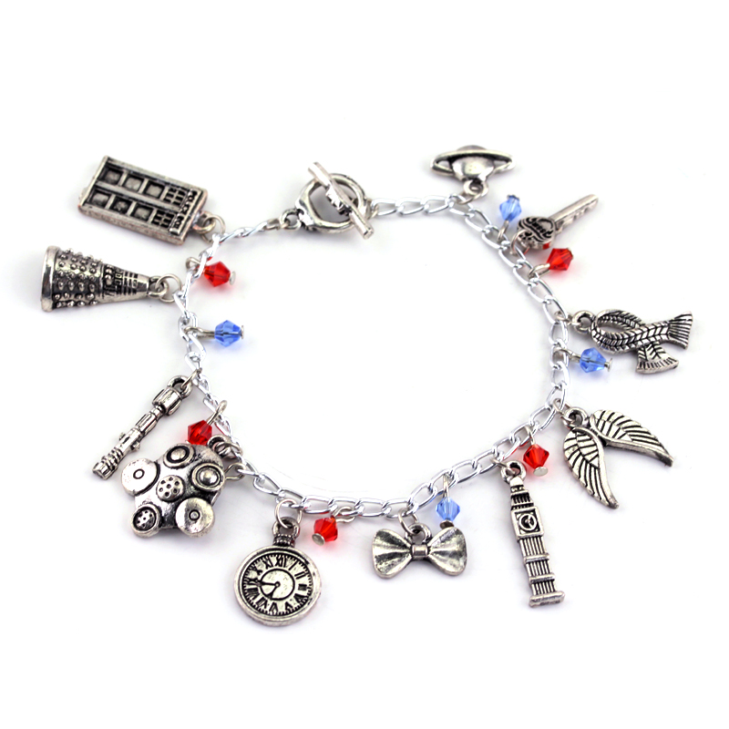 Doctor Who Bracelets for Women Vintage Accessories Chain Charms Bangles Wristbands Female Girls Gifts
