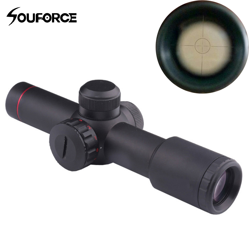 Tactical Optical Sight Scope 4.5X20E None-Illumination Mil Dot One-piece Hunting Riflescope with 1 Pair Scope Ring Lens Cover