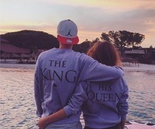Men&women pullovers s-xxxl couples king lovers match sweatshirts sweatshirt hoodies queen