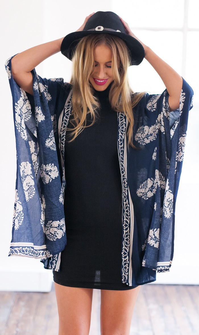 Fashion Book Cover Ups : Fashion blue paisley beach kimono swimwear cover ups