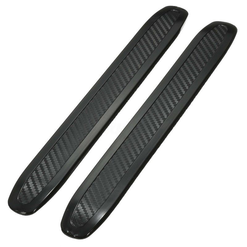 Car Bumper Protector Anti-Rub Scratch Guard Strip Rubber 2PCS Universal Vehicles Exterior Parts Bumpers