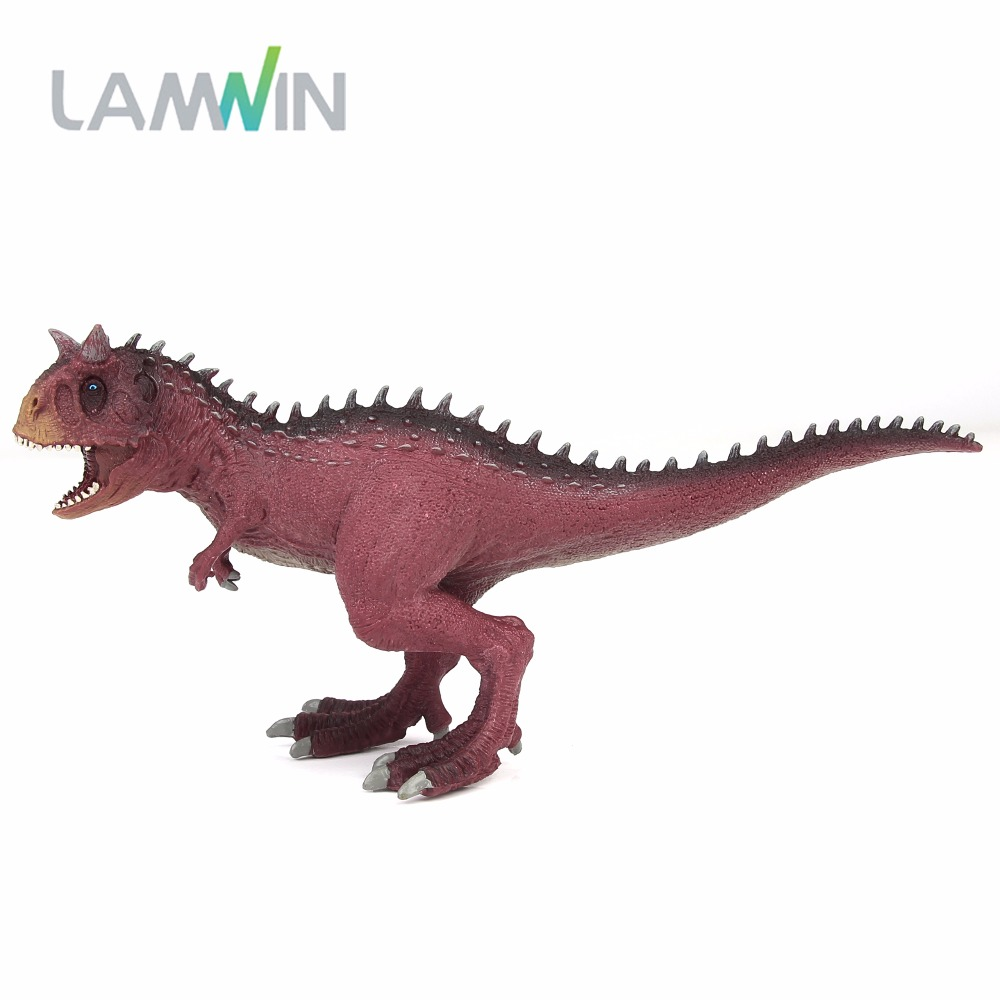 LAMWIN Jurassic Carnotaurus Action Figure Animal Model Collection Souvenir Plastic toy Dinosaur Birthday Gift