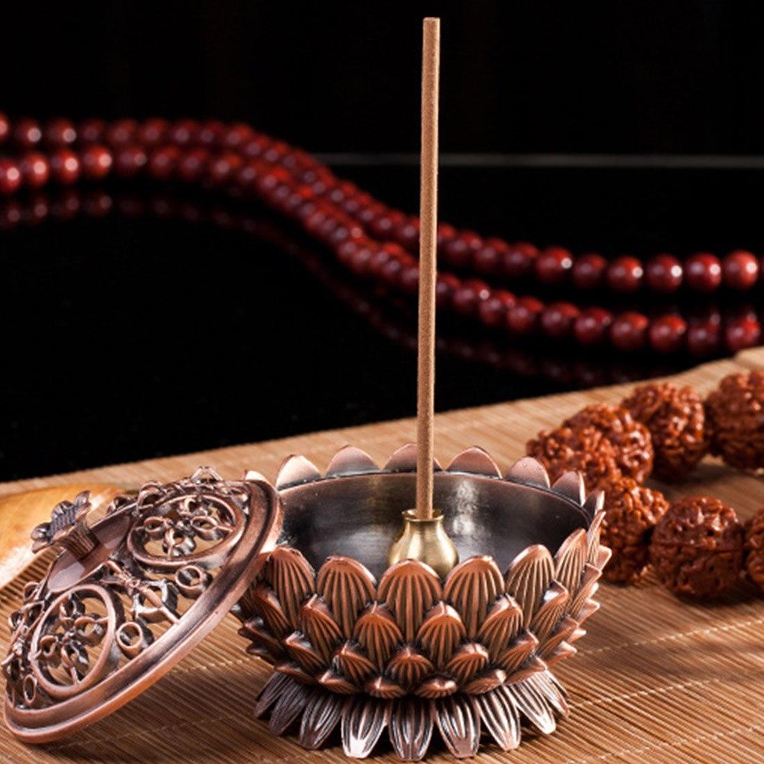 Sacred Lotus Copper Incense Burner 2