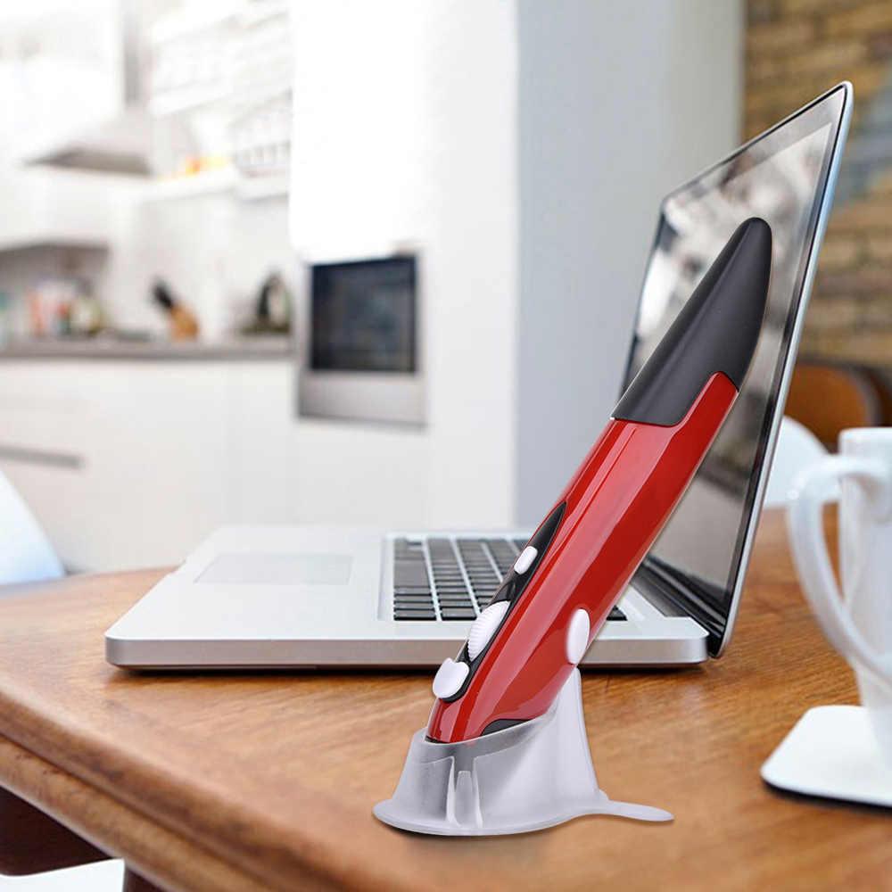 Беспроводная USB мини-мышь 2,4 ГГц, оптическая ручка, Воздушная мышь, регулируемая, 500/1000 точек/дюйм, для ноутбуков, настольных компьютеров, компьютеров, периферийных устройств