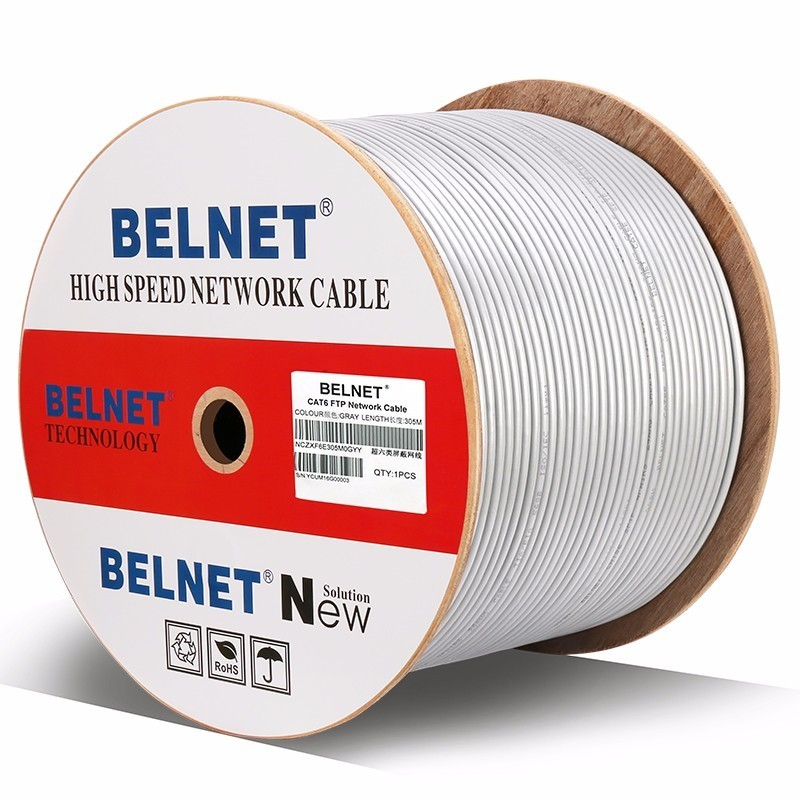 1000ft 305m Shielded CAT6 cable OFC copper wire Wood axis box shaft RJ45 network twisted pair for engineering Gigabit Ethernet 15m security tb 6015six standard gigabit ethernet network patch cable8 core twisted pair cable