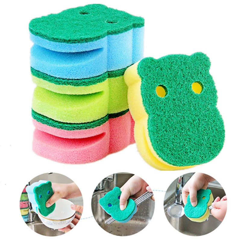 10 Pcs Random Double Side Hippo Clean Sponge Kitchen Magic Emery Nano Clean Sponge Dish towels Rust Focal Stains Removing Kit