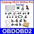 Онлайн-Версии V8.21 Carprog ЭКЮ Чип-Тюнинг Инструмент Полный Зарядные Устройства Автомобильные Prog 8.21 Программист Для Автомобилей Airbag Одометре Dashboard Immo