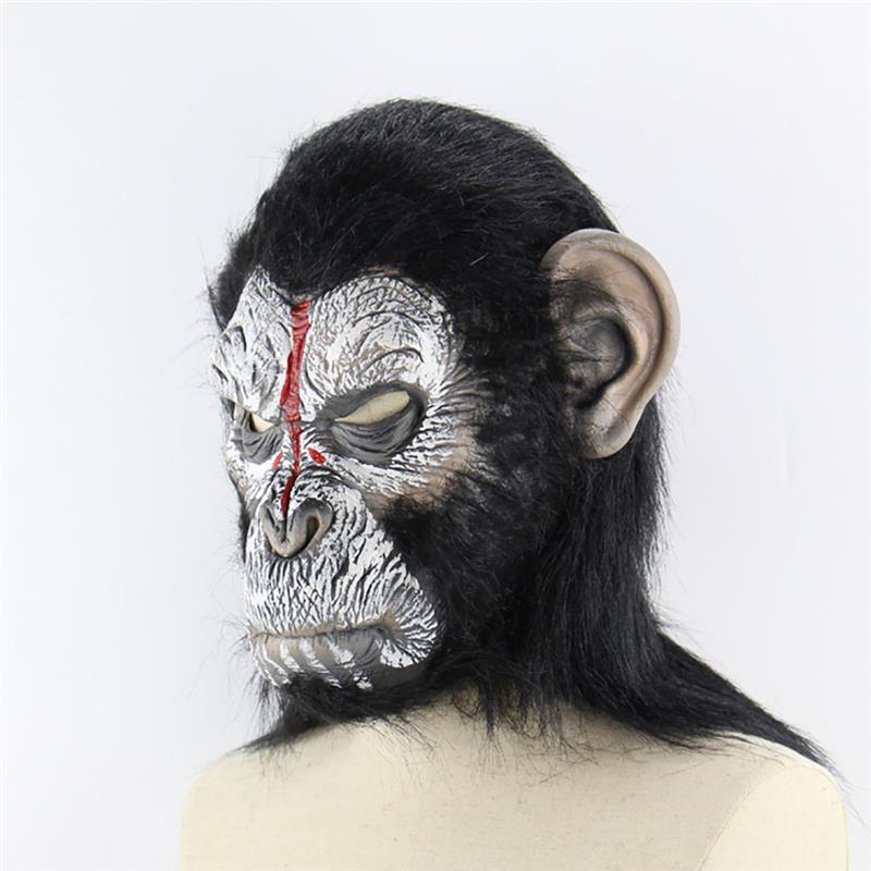 Маска для Хэллоуина Смешные орангутанг глава Новинка маска Хеллоуин костюм Маскарад Маска Голова маска - 3