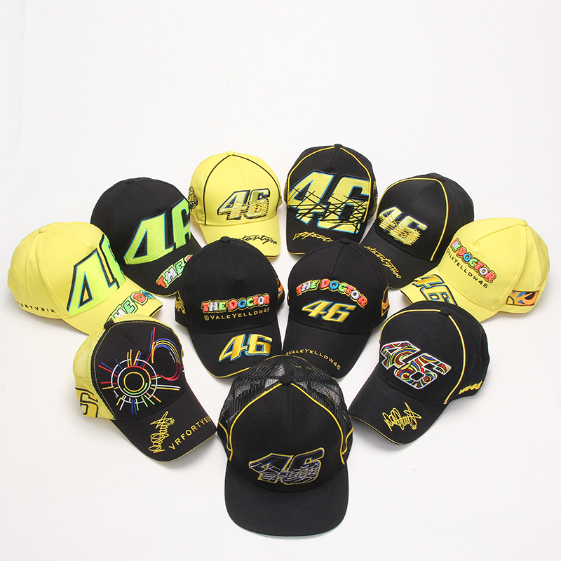 18 colors Rossi VR 46 Caps Baseball Caps Snapback Bones Masculino Moto Gp Rossi Vr46 Motorcycle Men For Women Hats Casquette