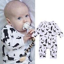 2016 Newborn Infant Kids Baby Boy Cotton Deer Romper Jumpsuit Clothes Outfit