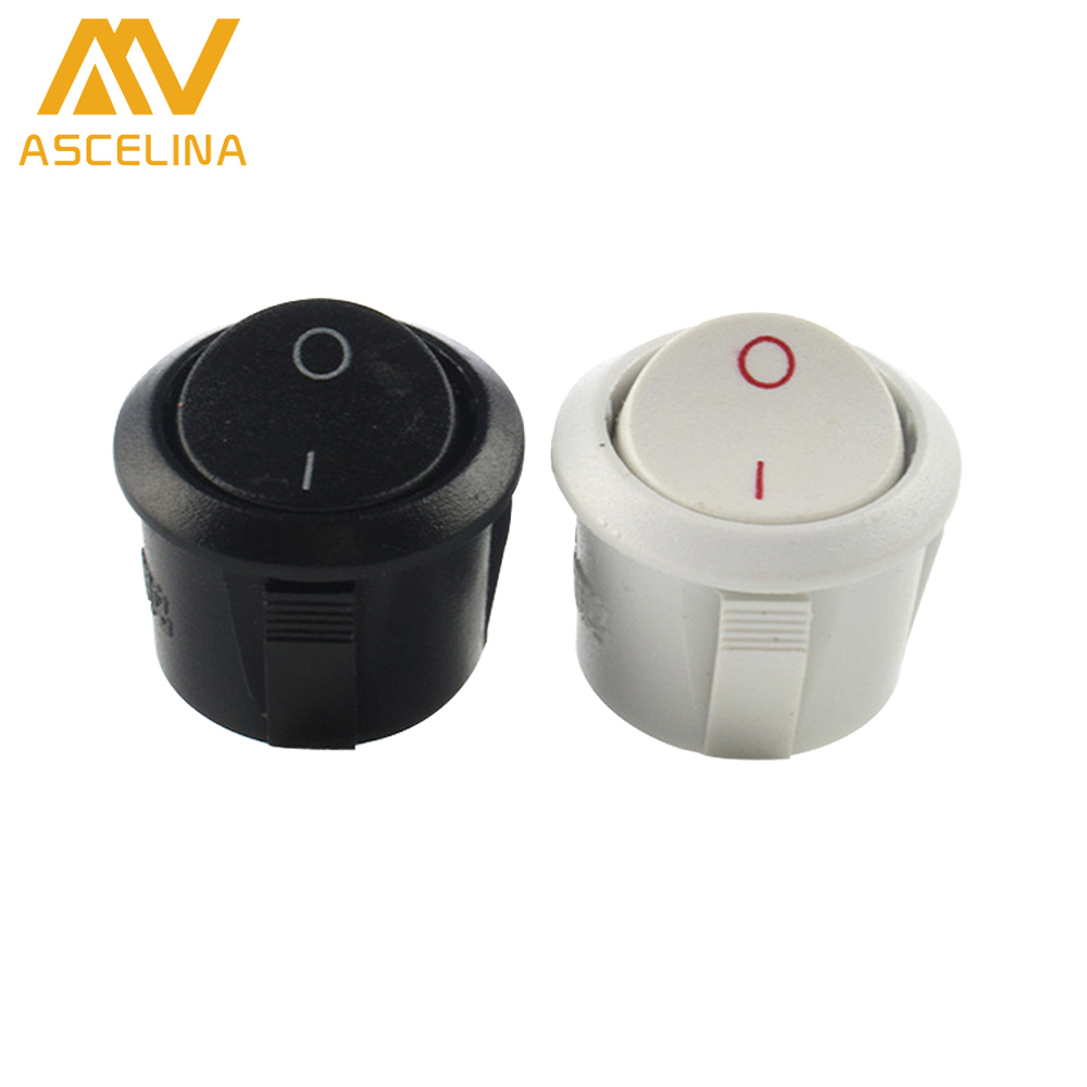 ⃝10Ps Round buttons switch Two feet step Switches wall switches ...