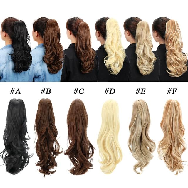 Aliexpress Buy 18 Pony Tail Hair Extensions Kanekalon Claw