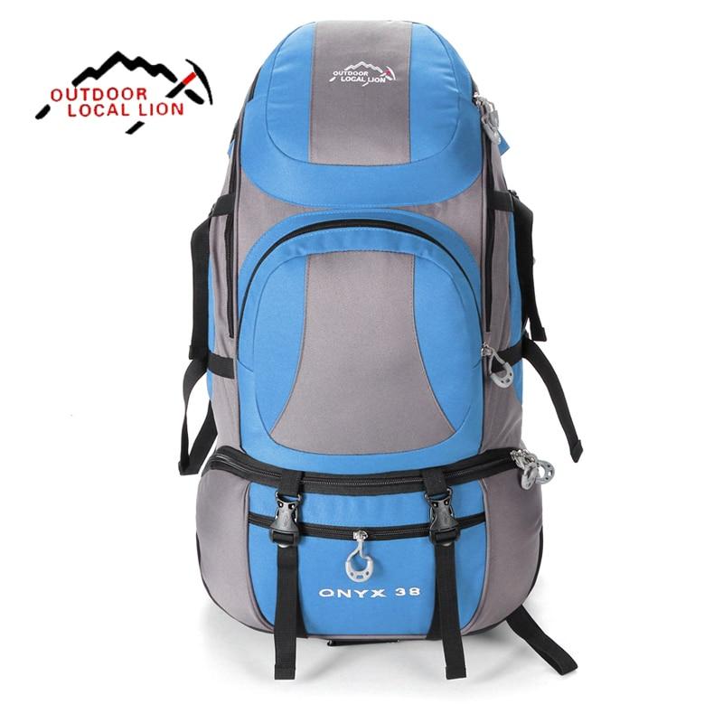 купить Hiking Backpacks Sports Bag Big Capacity Outdoor Bags Mountaineering Women Men Hiking Bag Outdoors Hunting Travel Backpacks недорого