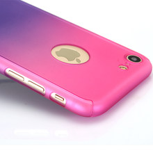 360 Degree Phone Cases For iPhone 6 7 8 Plus Case With Tempered Glass Full Cover Cases For iPhone 5 5s 6 6s 7 8 x xs xr Shell(China)