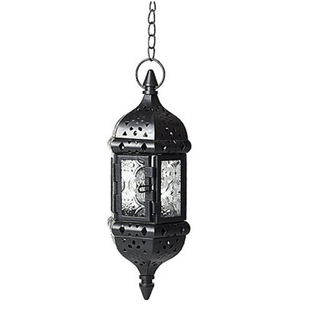 Creative Hanging Iron Candle Holder Glass Lanterns Iron Candle Stand Laterns Moroccan Moroco Chandeliers Home Decor 50A0036