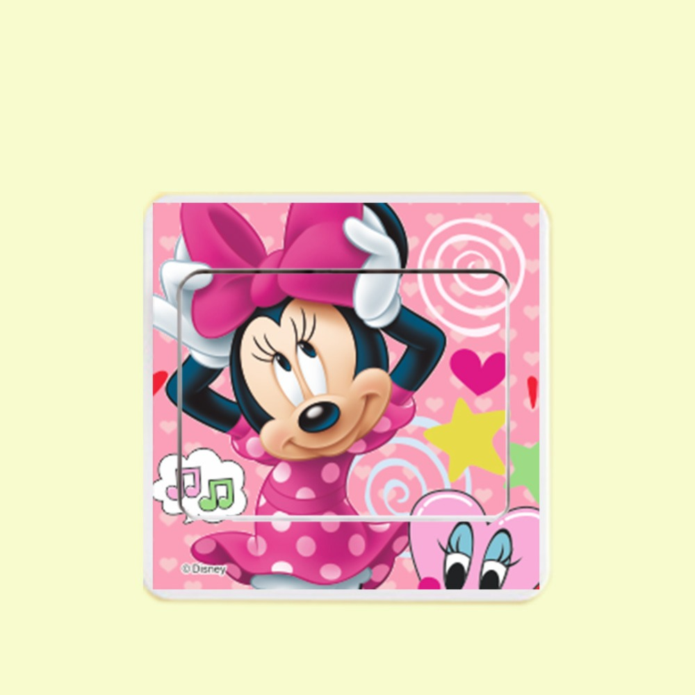 Aliexpress.com : Buy 6pcs Mickey Mouse Minnie mouse Switch Panel ...