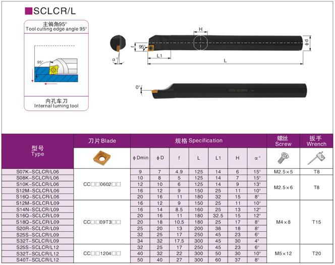 1P S12M-SCZCR09//S12M-SCZCL09 CNC Outil de coupe de tour de tournant interne support pour outil de tournage CCMT09T3 inserts en carbure Noir S12M-SCZCL09 1