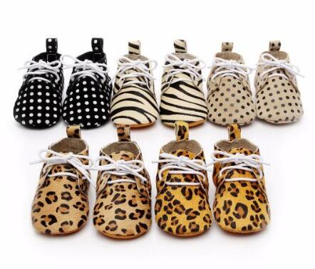 Hot sale Leopard genuine leather lace up baby shoes Infant Toddler soft soled girls boys moccasins casual First Walkers boots new genuine leather handmade leopard toddler baby moccasins girls kids ballet shoes first walker toddler soft dress shoes