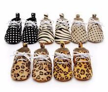 Горячая Распродажа Leopard натуральная кожа на шнуровке детская обувь для новорожденных малышей на мягкой подошве для мальчиков и девочек Мокасины Повседневная Первые ходоки сапоги