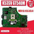 K53SV материнская плата для ноутбука For Asus K53SM K53SC K53SJ K53S A53S оригинальная материнская плата K53SV REV2.1/2 3/2 4 USB 3 0 GT540M 1G 8 * Память