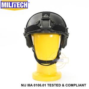 Image 1 - ISO מוסמך 2019 חדש MILITECH מרובה שחור IIIA 3A מהיר גבוהה XP לחתוך Bulletproof ארמיד בליסטי קסדה עם 5 Yrs אחריות
