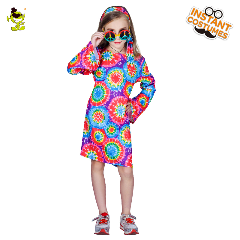 60s Costume Kids GoGo Girl Halloween Fancy Dress