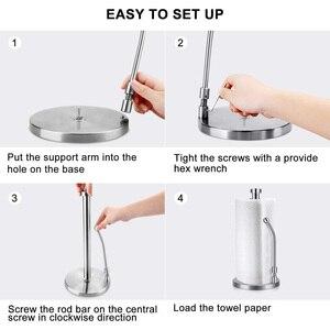 Image 5 - Papier Handtuch Halter Edelstahl Stehende Tissue Halter Einhand Reißen Perfekte Moderne Design für Küche Hält Küchen