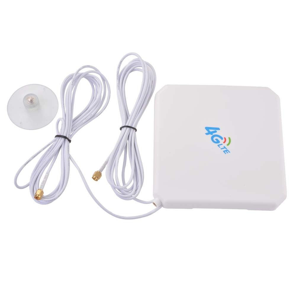 SMA Plug Aerial Amplifier 35dBi 4G LTE Antenna Booster Dual Mimo Network