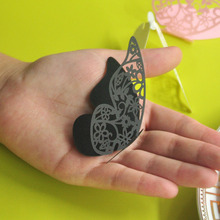 Paper Cards for Wedding with Black Butterfly