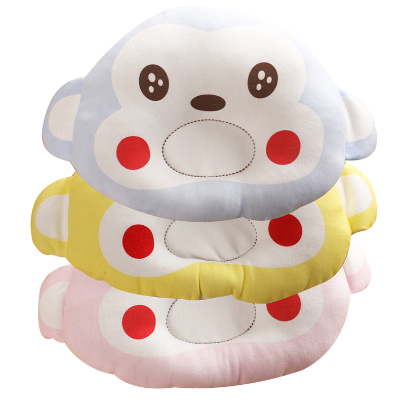 Baby Stereotypes Pillow Cute Cartoon Monkey Shaping Pillow Cotton  Stuffing Silk Floss Weeping Pillow