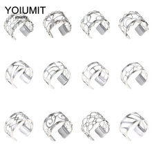 Cremo New Stainless Steel Rings For Women Bijoux Homme Style Silver Adjustable Ring Interchangeable Leather Bagues Pour Femme(China)